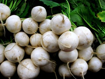 turnips in a pile